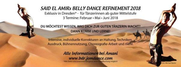 Schon vorbei: Belly Dance Refinement von und mit Said el Amir