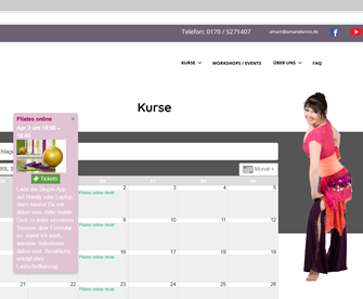 Bauchtanz/Pilates Online-Kurs: wie geht das?